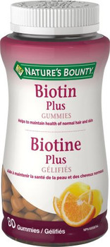 Nature's Bounty - Biotin Plus Gummies | 80 Gummies
