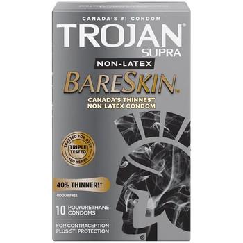 Trojan - BareSkin Non-Latex Condoms | 10 Polyurethane Condoms