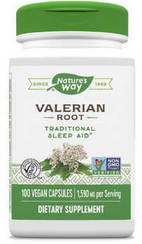 Nature's Way - Valerian Root - 100 Capsules