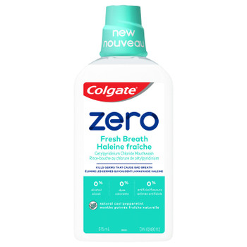 Colgate Zero Fresh Breath  Mouthwash - Natural Cool Peppermint   515ml