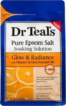 Dr Teal's Pure Epsom Salt - Glow & Radiance With Vitamin C & Citrus Essential Oils | 1.36kg
