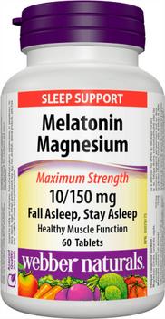 Webber Naturals - Melatonin Magnesium 10/150mg | 60 Tablets