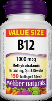 Webber Naturals - B12 1000mg | 150 Sublingual Tablets