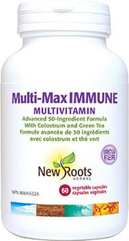 New Roots - Multi-Max Immune Multivitamin Iron-Free | 60 Vegetable capsules