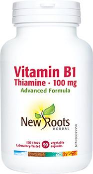 New Roots - Vitamin B1 Thiamin 100mg   90 Vegetable Capsules