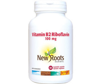 New Roots - Vitamin B2 Riboflavin 100mg   60 Vegetable Capsules