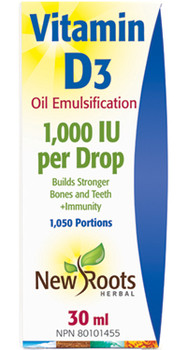 New Roots - Vitamin D3 1,000 IU Per Drop   30 ml