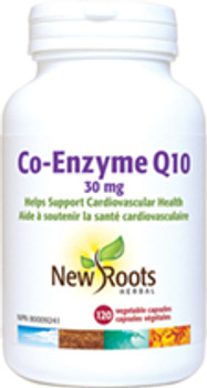 New Roots Co-Enzyme Q10 30mg | 120 Vegetable Capsules