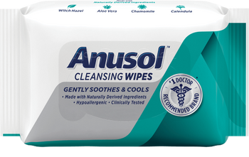 Anusol Cleansing Wipes - Gently  Soothes & Cools | 40 Wipes