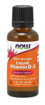 NOW - Vitamin D-3 Extra Strength - 1000 IU/Drop | 30ml