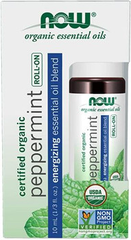 NOW - Organic Essential Oils - Peppermint - Roll-On   10ml