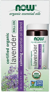 NOW - Organic Essential Oils - Lavender  - Roll-On   10ml