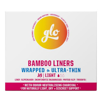 Glo - Bamboo Liners - Wrapped - Ultra-Thin | 16 Liners