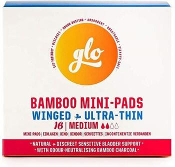 Glo - Bamboo Mini-Pads - Winged - Ultra-Thin | 16 Mini-Pads