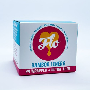 Flo Bamboo Liners - Ultra-Thin  | 24 Liners