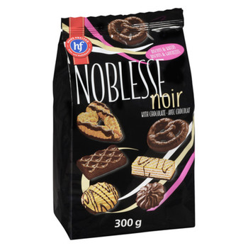 Noblesse - Assorted Biscuits And Wafers Noir With Chocolate | 300g