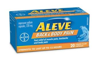 Aleve - Back & Body Pain  - Strength To Last Up To 12 Hours | 20 Liquid Filled Capsules