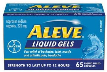 Aleve Liquid Gels - Strength To Last Up To 12 Hours | 65 Liquid Filled Capsules