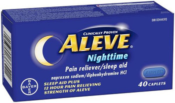 Aleve Nighttime  - Pain Reliver / Sleep Aid | 40 Caplets