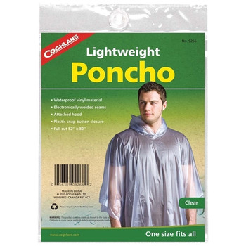 Coghlan's Lightweight Poncho - Clear | One Size Fits All