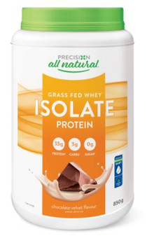Precision All Natural Grass Fed Whey Isolate Protein - Chocolate Velvet Flavour   850 g