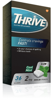 Thrive 2 mg Nicotine Replacement Gum - Cool Mint | 36 Pieces