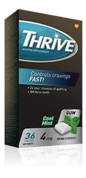 Thrive 4 mg Nicotine Replacement Gum - Cool Mint | 36 Pieces