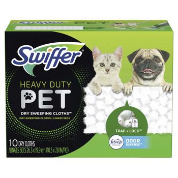 Swiffer Heavy Duty Pet Dry Sweeping Cloths | 10 Dry Cloths