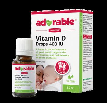 Adorable Vitamin D Drops 400 IU - 0-13 years old | 3.4ml