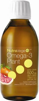 NutraVege Omega-3 Plant Liquid - Grapefruit Tangerine | 200 ml