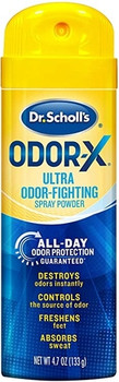 Dr. Scholl's Odour-X All Day Deodorant Spray Powder with Triple Action System | 133 g