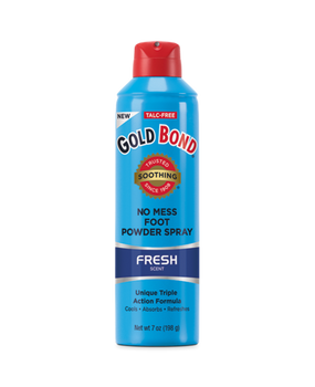 Gold Bond Fresh Aloe Scented No Mess Foot Powder Spray | 198 g