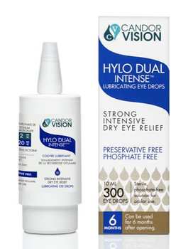 Candor Vision Hylo Dual Intense Lubricating Eye Drops - Strong Intensive Dry Eye Relief | 300 Drops