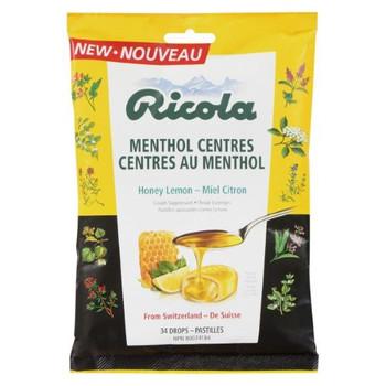 Ricola Menthol Centres - Honey Lemon | 34 Drops