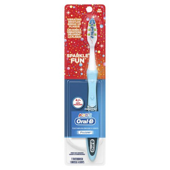 Oral-B Kid's Vibrating toothbrush - Sparkle Fun - Battery Powered | 1 Toothbrush