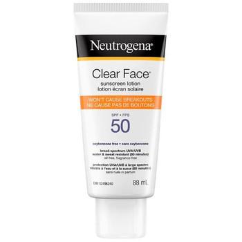 Neutrogena Clear Face Sunscreen Lotion - SPF 50 | 88ml