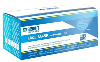 Disposable 3-ply Masks | 50-pack-Blue
