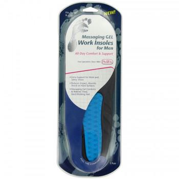 Pedifix Massaging Gel Work Insoles for Men - Size 8-13 | 1 Pair