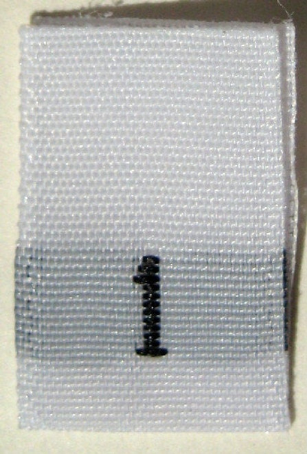 White Woven Clothing Sewing Garment Label Size Tags - 1 - ONE