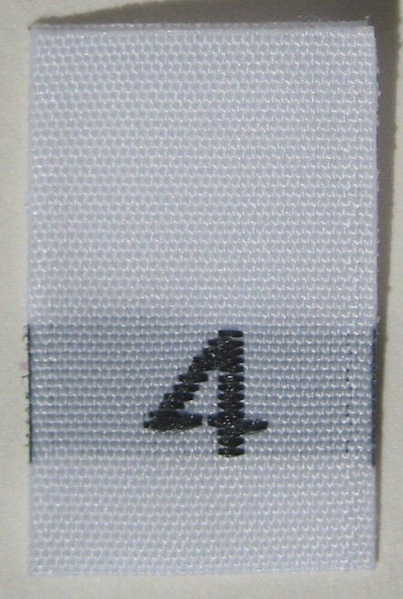 White Woven Clothing Sewing Garment Label Size Tags - 4 - FOUR