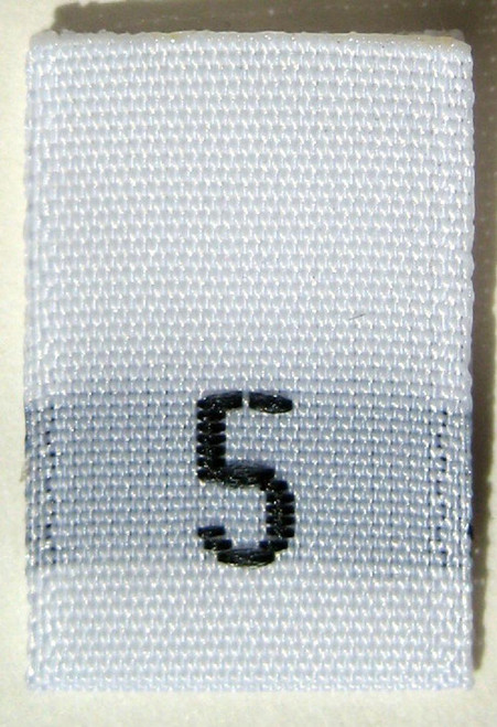 White Woven Clothing Sewing Garment Label Size Tags - 5 - FIVE