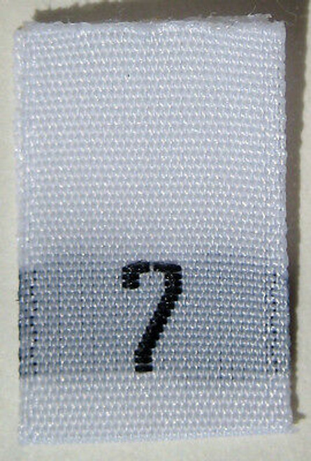 White Woven Clothing Sewing Garment Label Size Tags - 7 - SEVEN