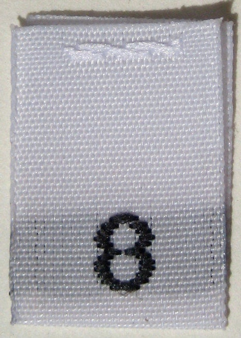 White Woven Clothing Sewing Garment Label Size Tags - 8 - EIGHT