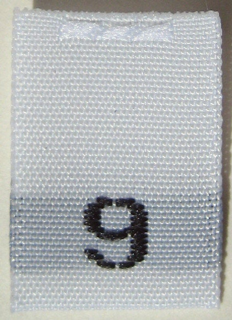 White Woven Clothing Sewing Garment Label Size Tags - 9 - NINE