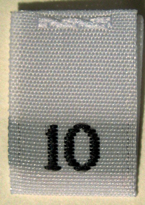 White Woven Clothing Sewing Garment Label