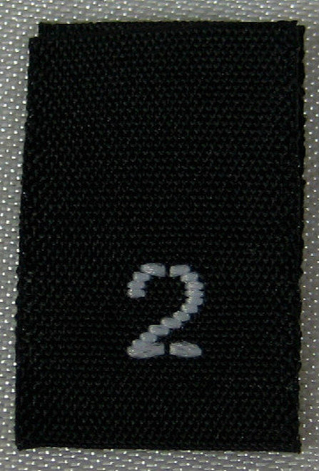 Black Woven Clothing Sewing Garment Label Size Tags - 2 - TWO