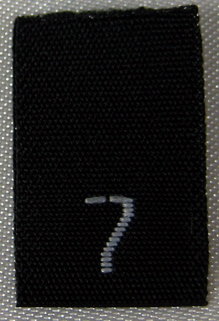 Black Woven Clothing Sewing Garment Label Size Tags - 7 - SEVEN