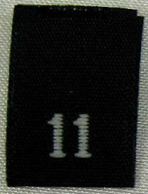 Black Woven Clothing Sewing Garment Label Size Tags - 11 - ELEVEN