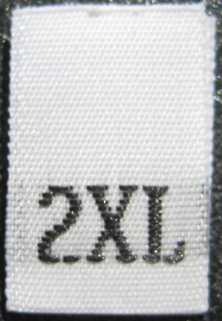 White Woven Clothing Sewing Garment Label Size Tags - 2XL - XXL - Extra Extra Large