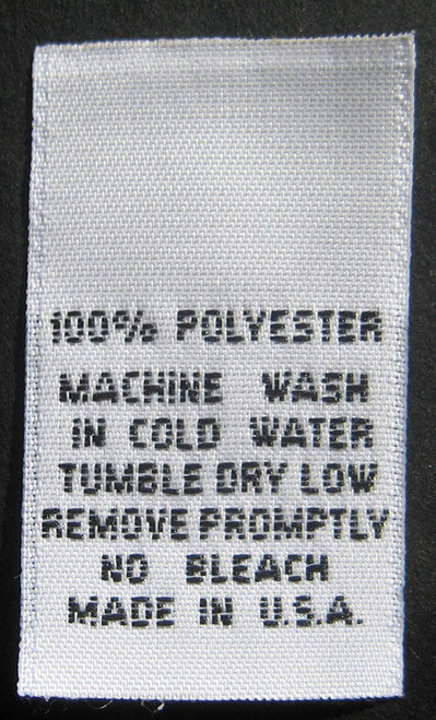 White 100% Polyester Woven Clothing Sewing Garment Care Label Tags